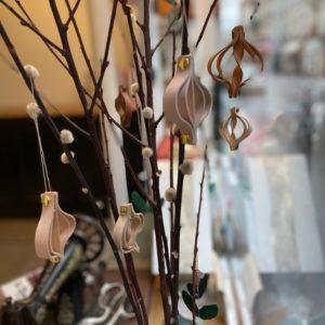 Décorations de Noël en cuir